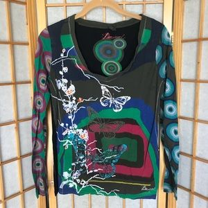 Desigual embroidered patterned top